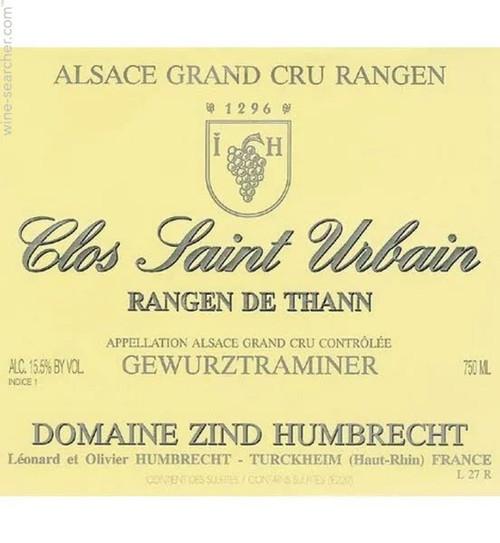 Zind-Humbrecht Gewürztraminer GC Rangen de Thann Clos St-Urbain 2016