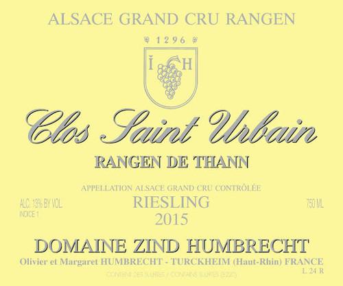 Zind-Humbrecht Riesling Grand Cru Rangen de Thann Clos St-Urbain 2015
