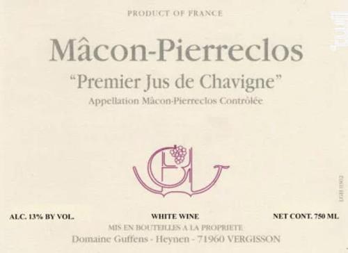 "Guffens-Heynen Mâcon-Pierreclos ""1er Jus de Chavigne"" 2019"