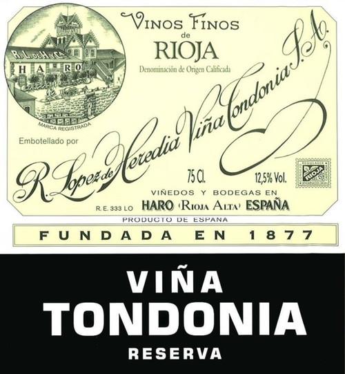 López de Heredia Rioja Viña Tondonia Reserva 2001 1.5L