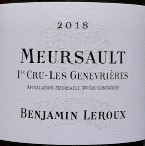 Leroux/Benjamin Meursault 1er cru Genevrières Dessous 2018
