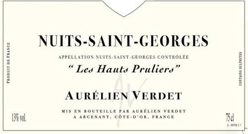 Verdet/Aurélien Nuits-St-Georges Les Hauts Pruliers 2017
