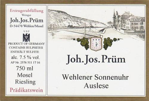 Prüm/JJ Riesling Auslese Wehlener Sonnenuhr Gold Cap 2017