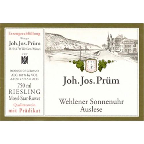 Prüm/JJ Riesling Auslese Wehlener Sonnenuhr 2017