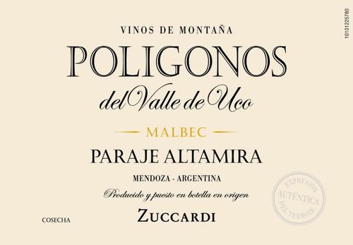 Zuccardi Malbec Poligonos del Valle de Uco Paraje Altamira 2016 1.5L