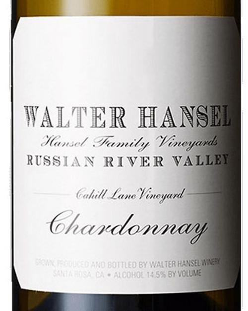 Walter Hansel Chardonnay Russian River Valley Cahill Lane 2018
