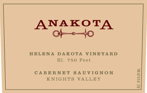 Anakota Cabernet Sauvignon Knights Valley Helena Dakota Vyd 2017