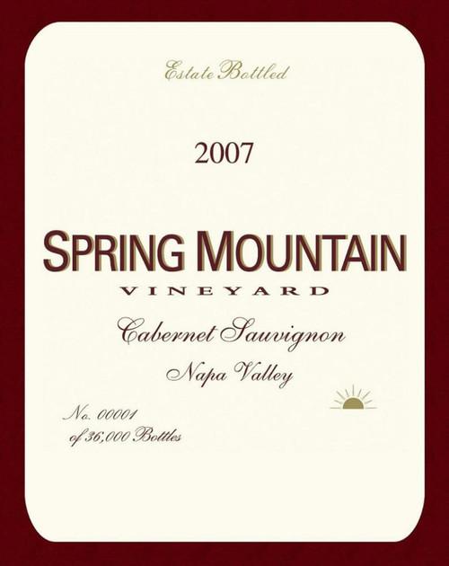 Spring Mountain Vineyard Cabernet Sauvignon Napa Valley 2007 1.5L