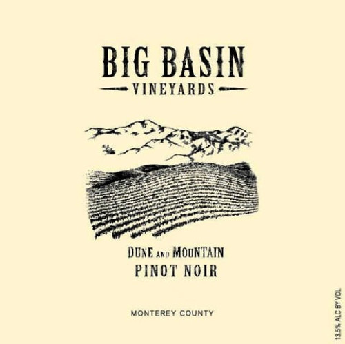 Big Basin Vineyards Pinot Noir Monterey County Dune and Mountain 2018