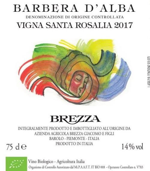Brezza Barbera d'Alba Vigna Santa Rosalia 2017