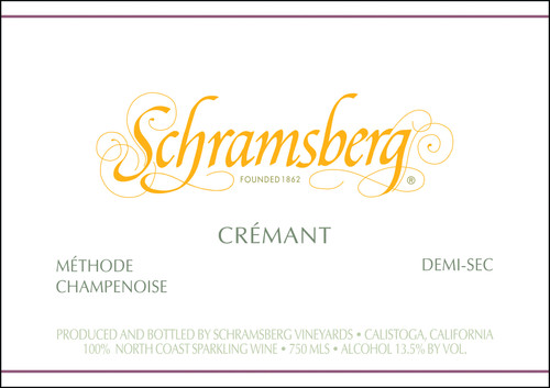 Schramsberg Demi-Sec North Coast Crémant 2016