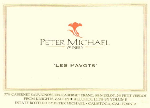 Peter Michael Les Pavots Knights Valley 2018