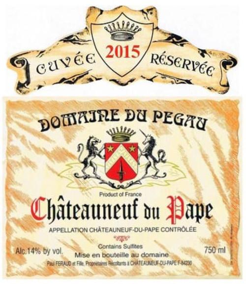Pégaü Châteauneuf-du-Pape Cuvée Réservée 2015