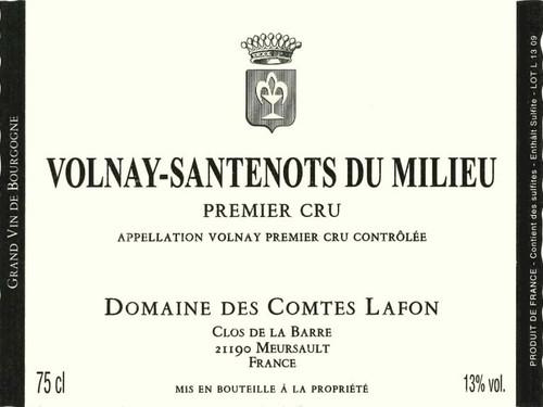 Comtes Lafon Volnay 1er cru Santenots-du-Milieu 2018