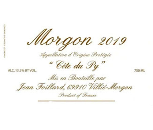 Foillard/Jean Morgon Côte du Py 2019