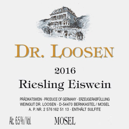 Dr. Loosen Riesling Eiswein 2016 375ml