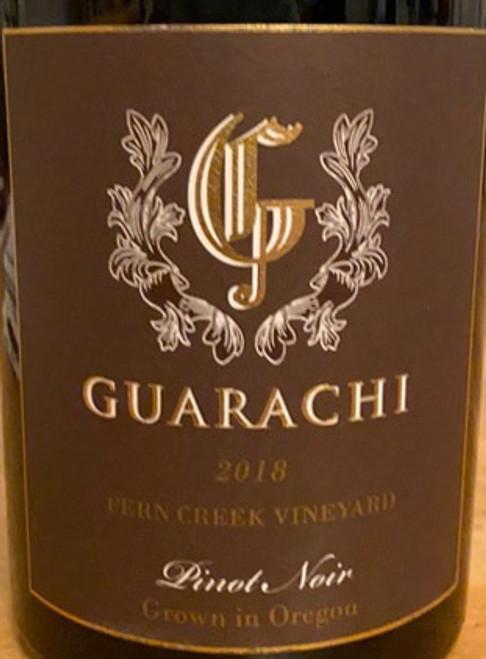 Guarachi Family Pinot Noir Willamette Valley Fern Creek Vineyard 2018