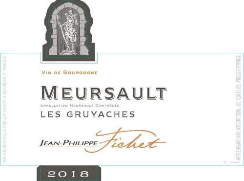 Fichet/Jean-Philippe Meursault Gruyaches 2018