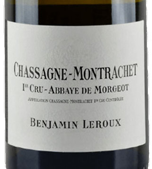 Leroux/Benjamin Chassagne-Montrachet 1er cru Abbaye de Morgeot 2019