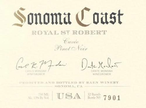 Raen Pinot Noir Sonoma Coast Royal St. Robert Cuvée 2018