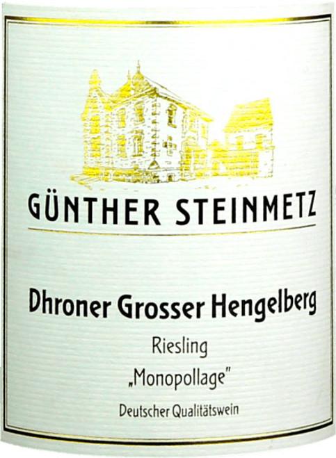 Steinmetz/Günther Riesling Dhroner Grosser Hengelberg Monopollage 2019