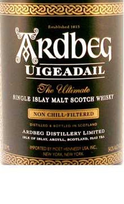 Ardbeg Uigeadail Single Islay Malt 108.4 Proof