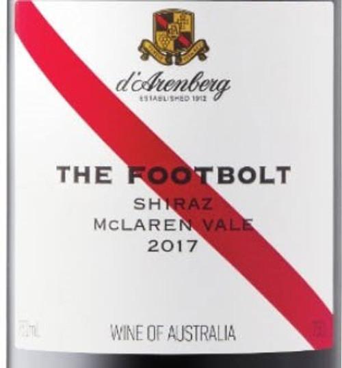 D'Arenberg Shiraz McLaren Vale The Footbolt 2017