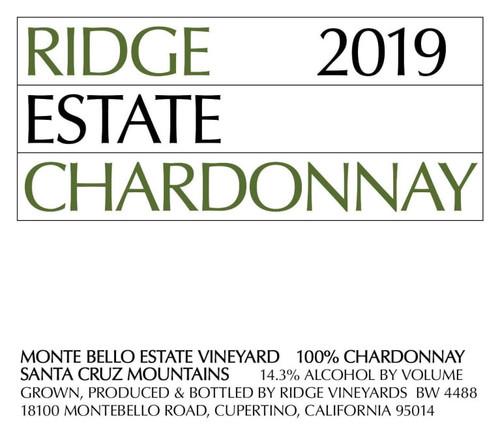 Ridge Chardonnay Santa Cruz Mountains Estate 2019