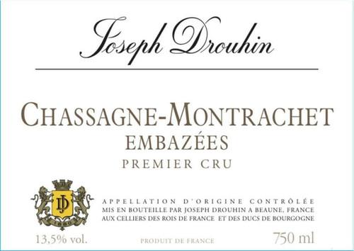 Drouhin Chassagne-Montrachet 1er cru Embazées 2017