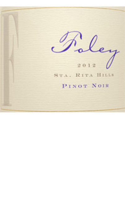 Foley Pinot Noir Santa Rita Hills 2012