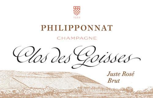 Philipponnat Brut Champagne Juste Rosé Clos des Goisses 2008