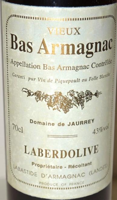 Laberdolive Bas-Armagnac Domaine de Jaurrey 1954