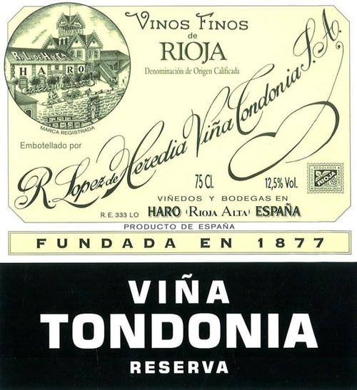 López de Heredia Rioja Viña Tondonia Reserva 2009