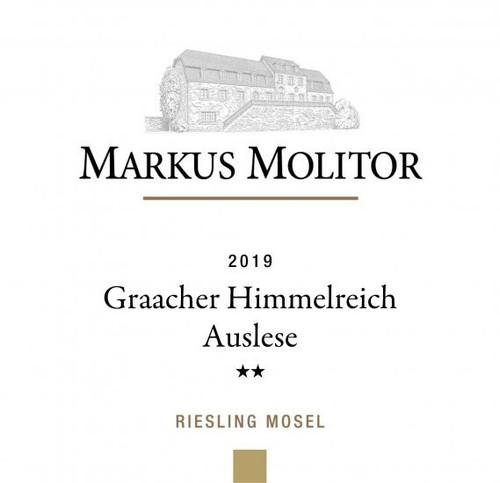 Molitor/Markus Riesling Auslese** Graacher Himmelreich Gold Cap 2019