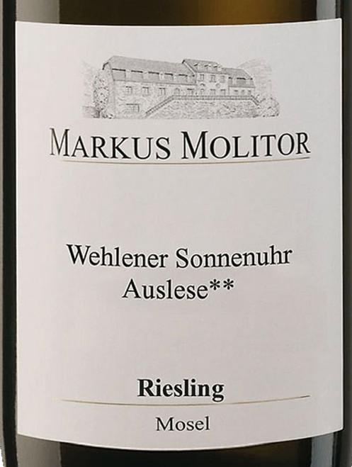 Molitor/Markus Riesling Auslese** Wehlener Sonnenuhr White Cap 2019