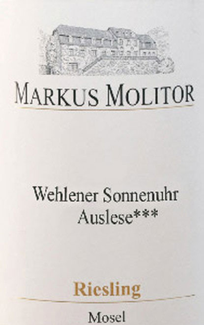 Molitor/Markus Riesling Auslese*** Wehlener Sonnenuhr White Cap 2019
