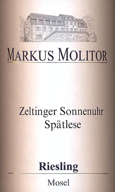 Molitor/Markus Riesling Spätlese Zeltinger Sonnenuhr #22 Gold Cap 2019