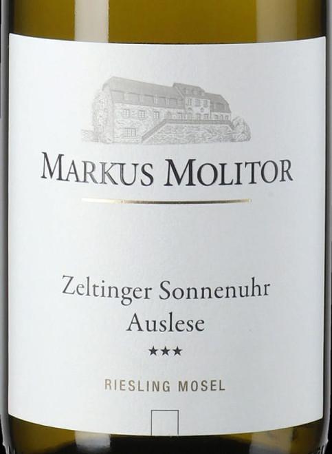 Molitor/Markus Riesling Auslese*** Zeltinger Sonnenuhr White Cap 2019