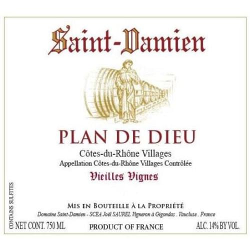Saint-Damien Côtes du Rhône-Villages Plan de Dieu Vieilles Vignes 2018