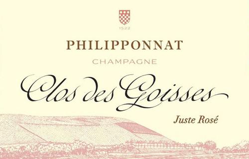 Philipponnat Brut Champagne Juste Rosé Clos des Goisses 2009