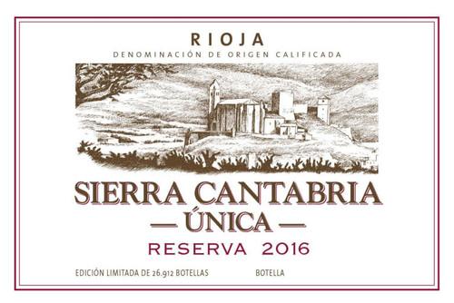 Sierra Cantabria Rioja Reserva Única 2016