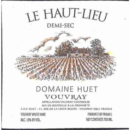 Huët Vouvray Le Haut-Lieu Demi-Sec 2020