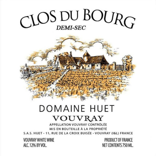 Huët Vouvray Clos du Bourg Demi-Sec 2020