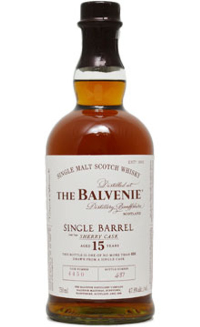 Balvenie 15 Year Single Barrel Sherry Cask Single Malt Scotch Whisky