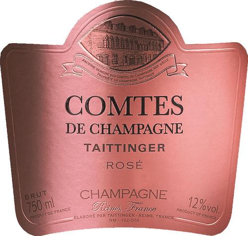 Taittinger Brut Rosé Champagne Comtes de Champagne 2007