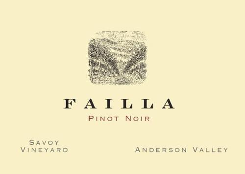 Failla Pinot Noir Anderson Valley Savoy Vineyard 2019