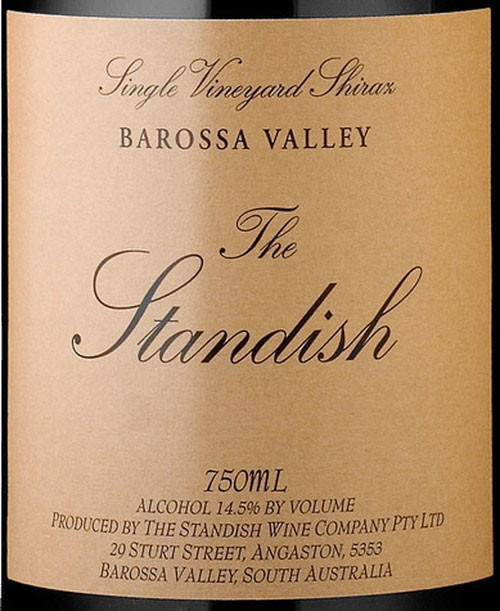 Standish Shiraz Barossa Valley The Standish 2001