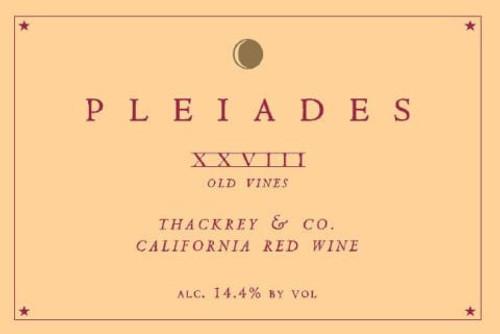 Thackrey Pleiades XXVIII Old Vines California Red NV