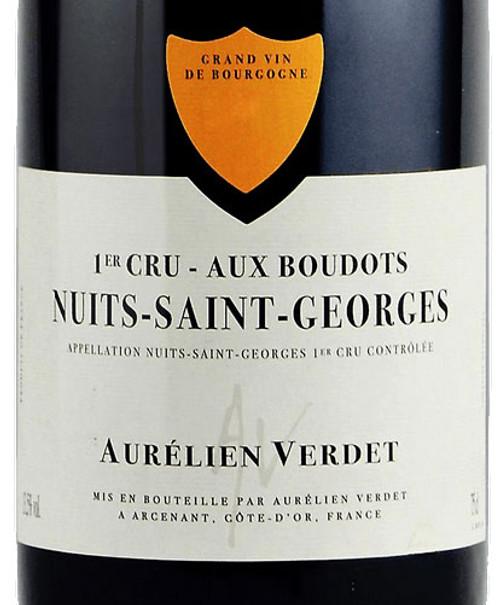 Verdet/Aurélien Nuits-St-Georges 1er cru Boudots 2019