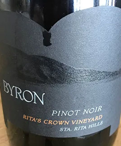 Byron Pinot Noir Sta. Rita Hills Rita's Crown Vineyard 2016